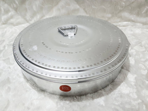 Large metal bowl with a cover - MarkeetEx