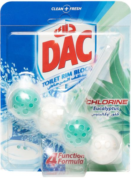DAC Power Active Chlorine Eucalyptus Toilet Rim Block 50g