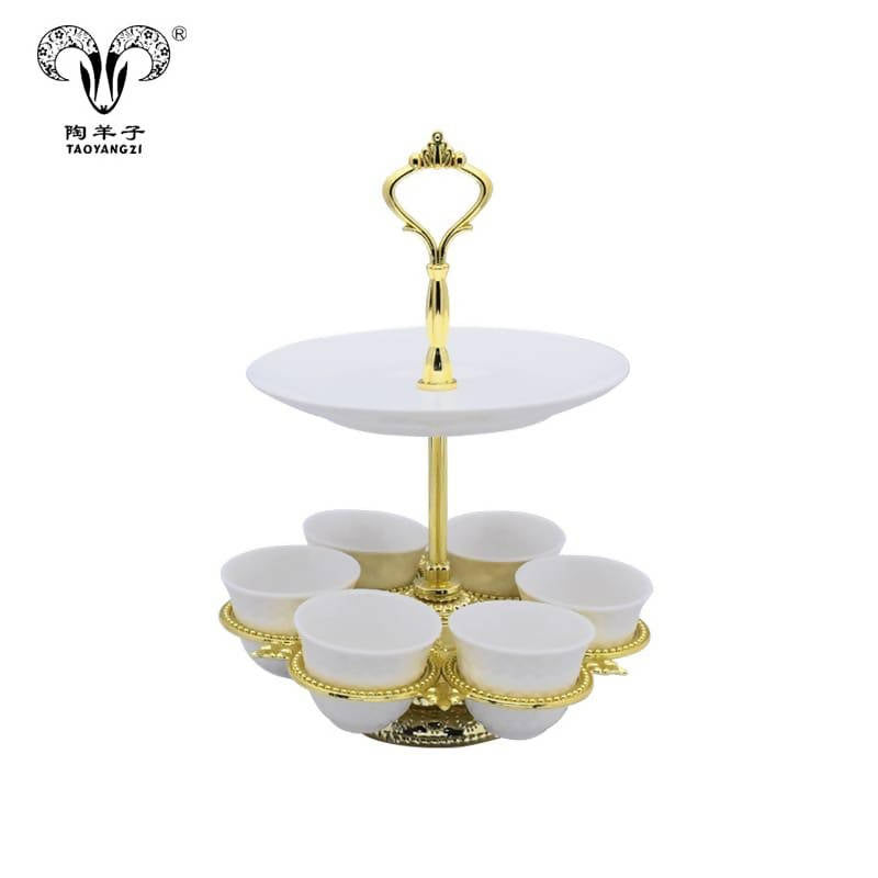 Omani Coffee Set with Golden Stand - MarkeetEx