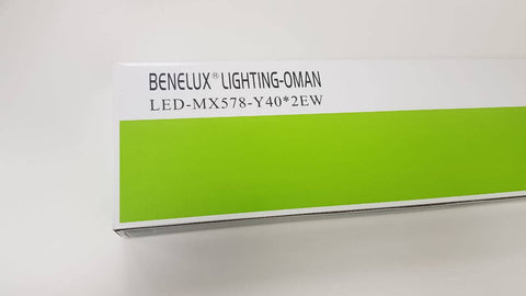 4FT DOUBLE LED DIFFUSER FITTING WITH LAMP - BENELUX