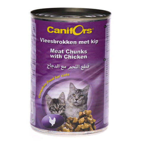 Canifors - Cat : Meat Chunks with Chicken 410 GM - MarkeetEx