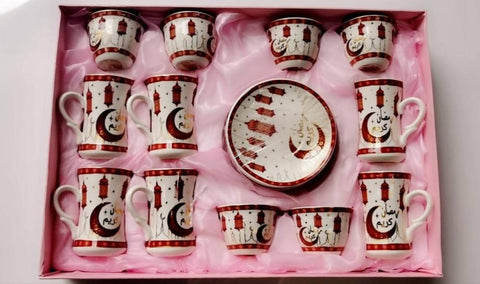A Ramadan Tea and coffee cups set (18 pc) - MarkeetEx