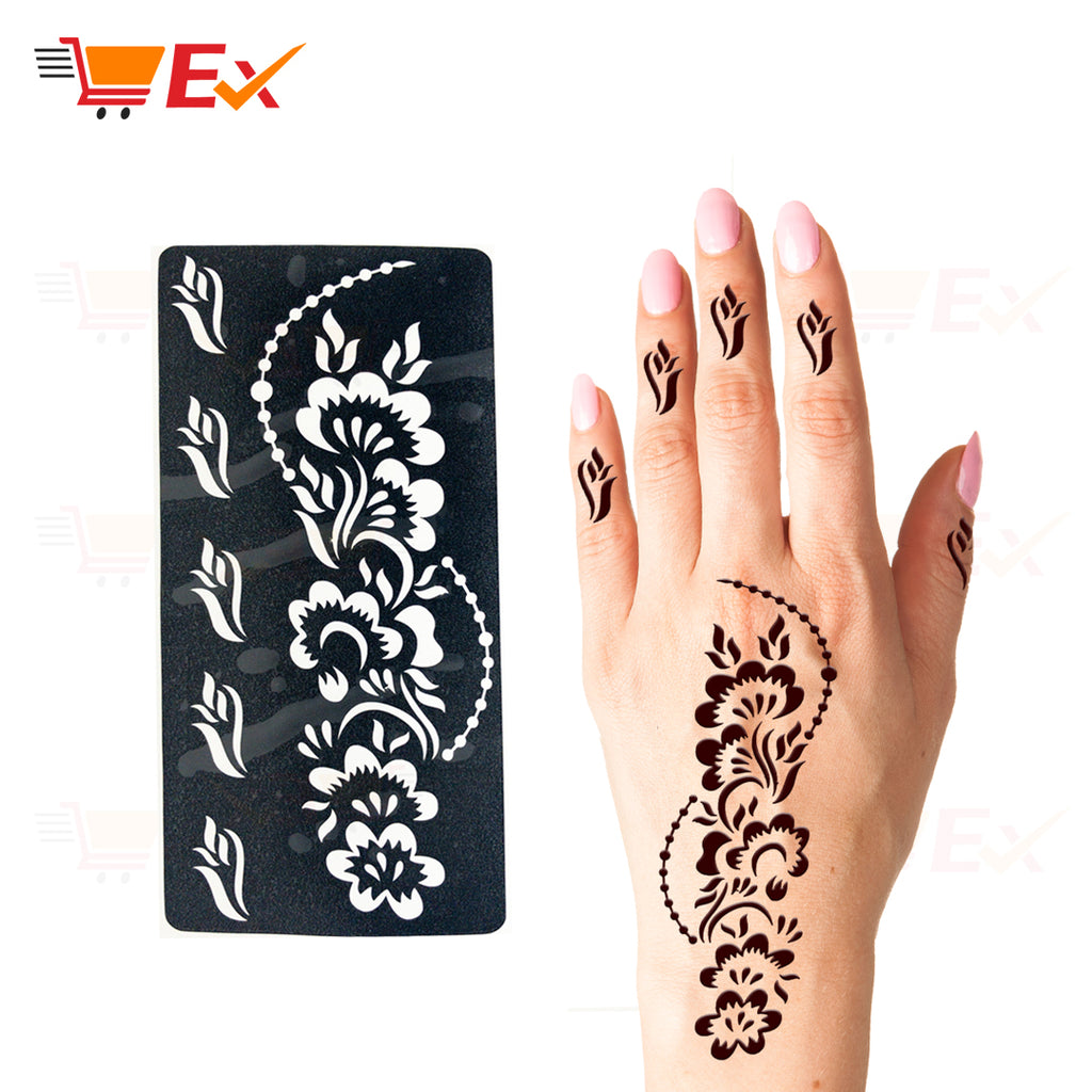 Henna Stencil Sticker Set #18 طقم ستيكر حناء