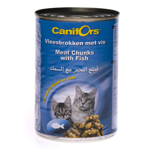 Canifors - Cat : Meat Chunks with Fish 410 GM - MarkeetEx