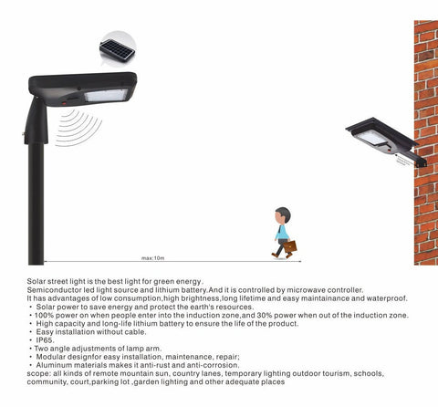 18W LED STREET LIGHT WITH SOLAR AND SENSOR - LIPER GERMANY