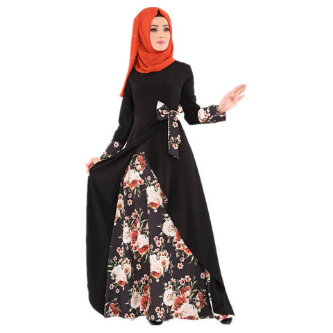 (New Arrival 2021) Islamic Turkish Omani Abaya with black scarf - MarkeetEx
