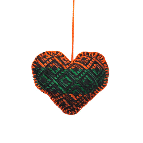 Orange and Green Stuffed heart 11 cm - MarkeetEx