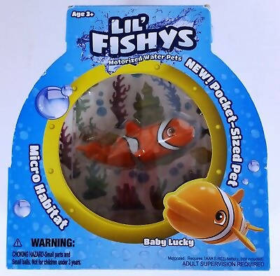 Lil Fishy's Micro Habitat with Fish Motorized Water Pet 3+Age - MarkeetEx