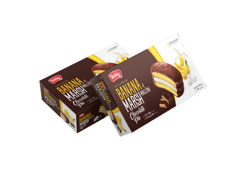 Tastee Banana Chocolate Pie - (25 gm X 6 Pcs) - MarkeetEx