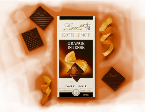 Lindt Excellence Intense Orange Dark Chocolate - 100 g