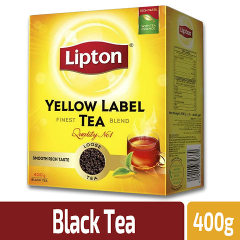 Lipton Yellow Label Black Tea Loose 400gm Pack - MarkeetEx