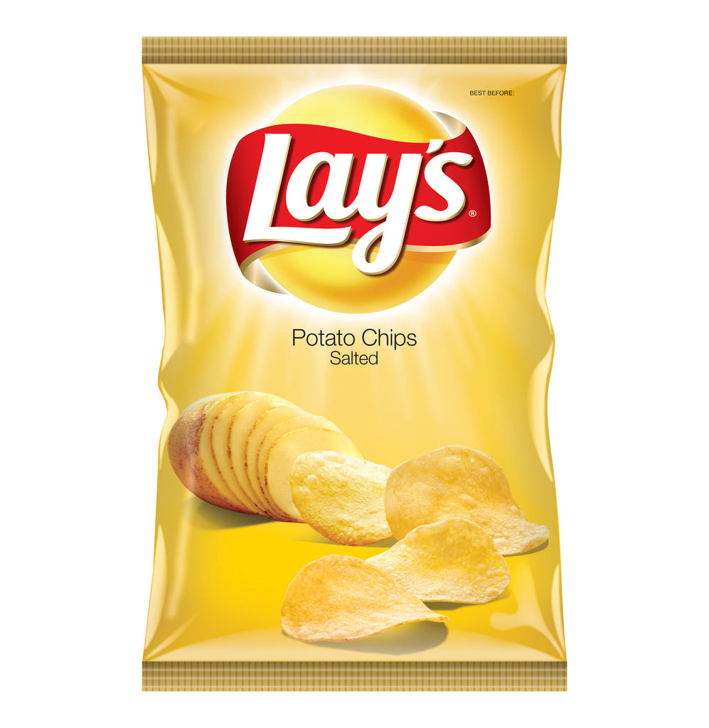 Potato Chips salted lays 185gm