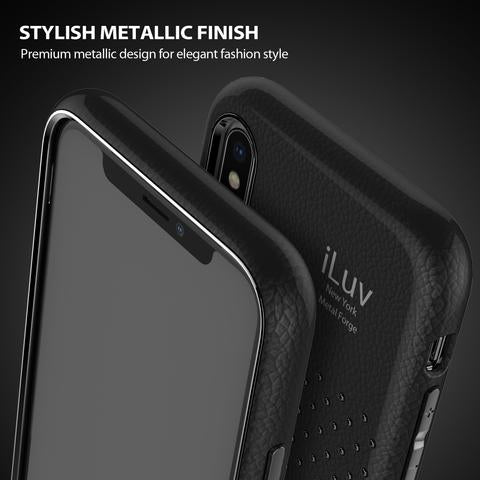 iLuv - iPhone XR Dual Layer Soft Flexible Lightweight Case - AIXLMETFBK