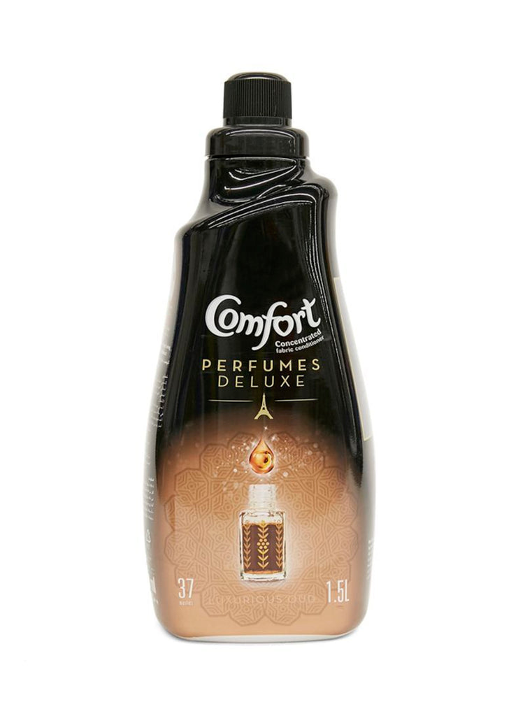 Comfort Perfumes Deluxe Concentrated Fabric Softener Indulgence, 1.5LTR  - ملطف الأقمشة مع عطر الدلال كومفورت