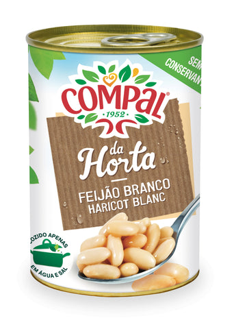 White beans Compal Canned Vegetables 410 GM - MarkeetEx