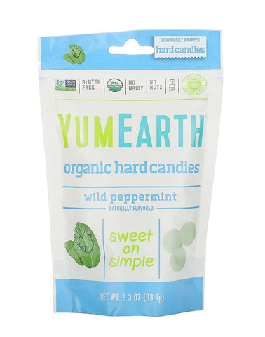 YUMEARTH Organic Hard Candies, Wild Peppermint (93.6 g) - MarkeetEx