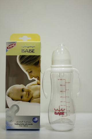Babe Feeding Bottle with handle 250Ml - MarkeetEx