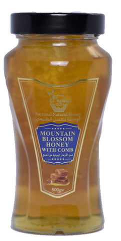 MOUNTAIN BLOSSOM HONEY WITH COMB 500 gr - MarkeetEx