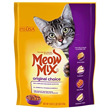 Cat Food Original Choice Meow Mix 510gm