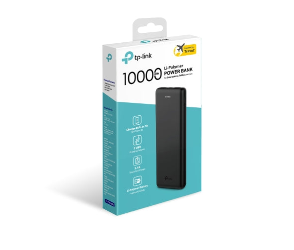 TP-LINK 10000mAh Portable Power Bank, TL-PB10000, Black
