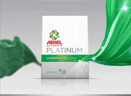 ARIEL PLATINUM GREEN LUMINOUS CLEAN 5KG