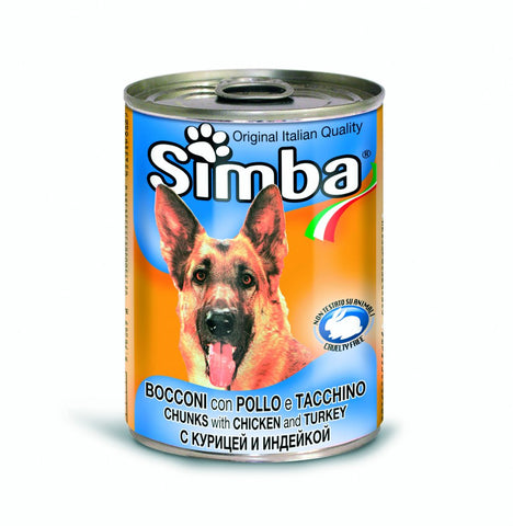Simba Bocconi Chunks With Chicken and Turkey 415g