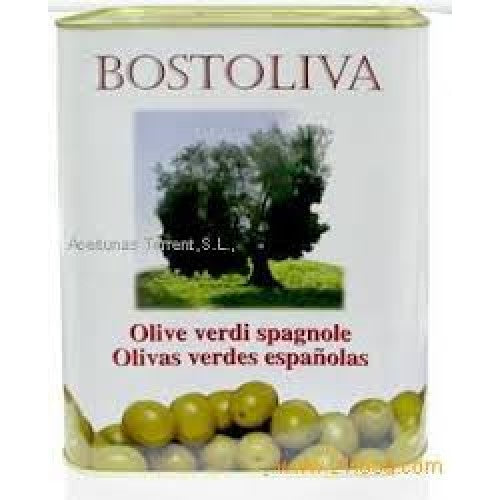 BOSTOLIVA Spanish Whole Green Olives 5Kg - MarkeetEx
