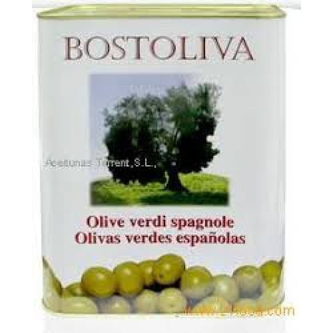 BOSTOLIVA Spanish Whole Green Olives 5Kg