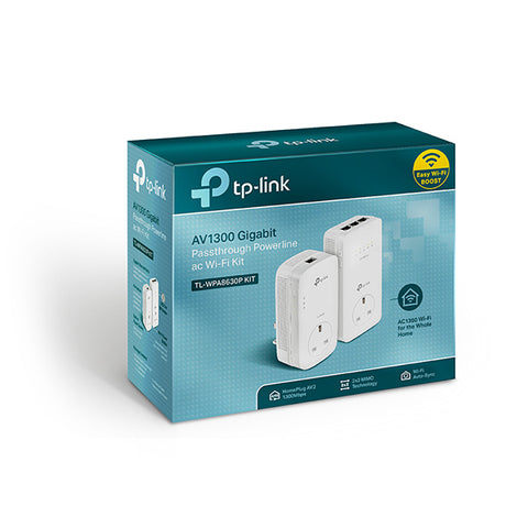 TPLink AV1300 Gigabit Passthrough Powerline ac Wi-Fi Kit TL-WPA8630P KIT