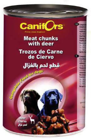 Canifors - Dog : Meat Chunks with Deer 410 GM - MarkeetEx