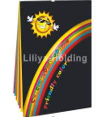 "Colored Paper folder "" Friendly Colors"", A4, 7 colors, 70 sheets, density of 80 gsm. - MarkeetEx"