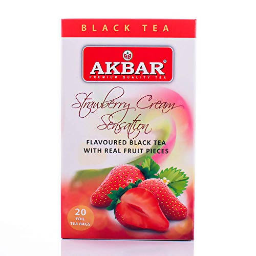 Akbar strawberry black tea 20 Tea Bags - MarkeetEx
