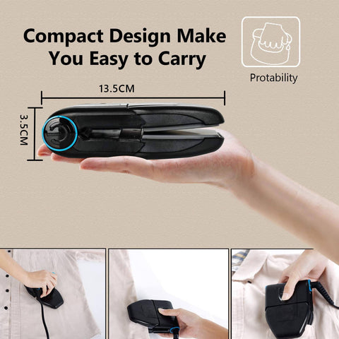 (New Arrival 2021) Amazing Folding Portable Iron Collar Iron Electric Iron With Double Ironing 6 Heat Settings - MarkeetEx