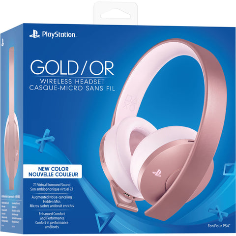 Sony PlayStation Gold Wireless Headset (Rose Gold) - MarkeetEx