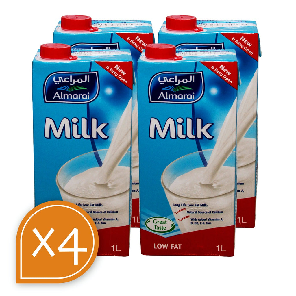 Milk Low Fat Long Life Almarai 1LTR X 4 - MarkeetEx