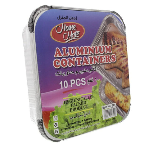 Aluminium Container 10Pcs Medium- حاوية الألومنيوم