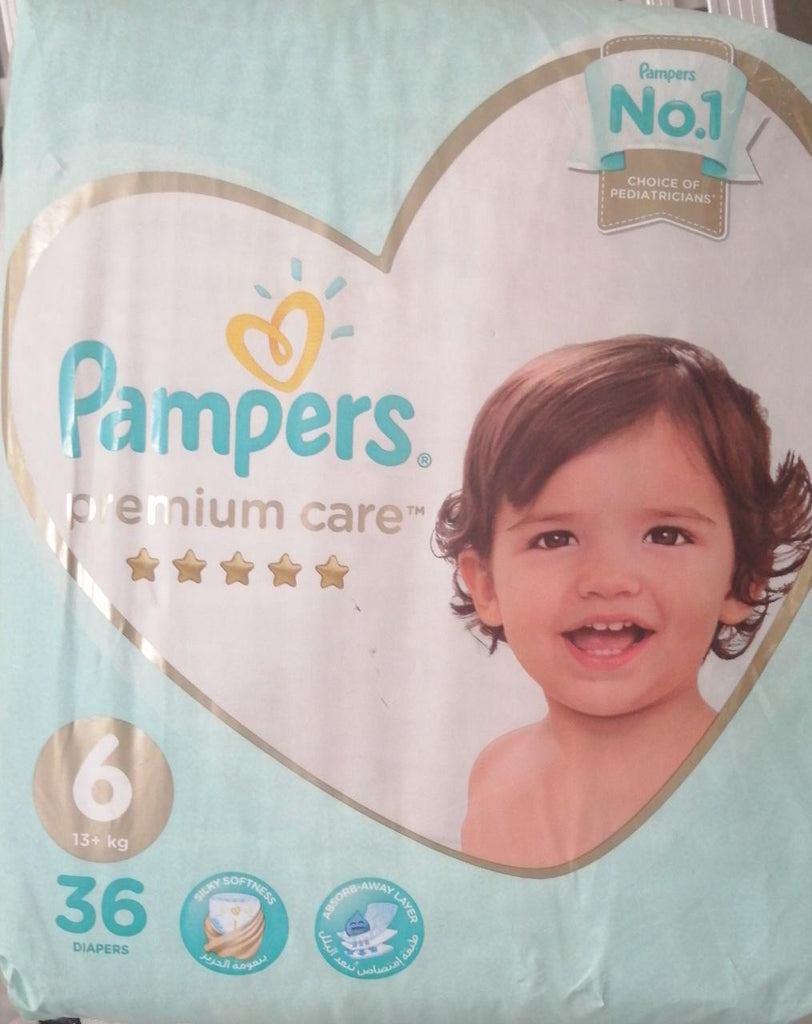 Pampers Premium Care Stage 6 - 36 Diapers - MarkeetEx