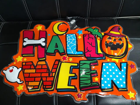 Large Halloween Wall Decoration, Letters