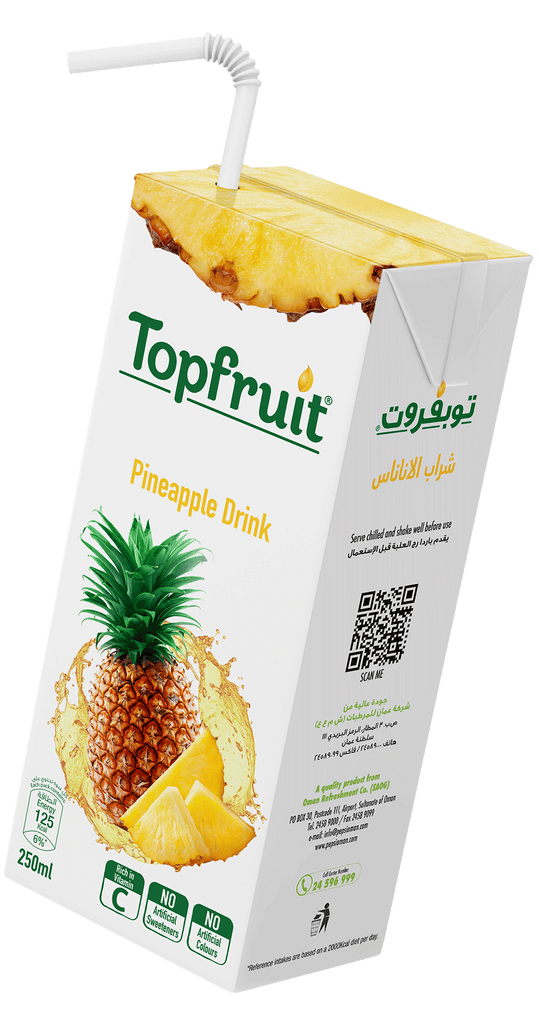 Topfruit Pineapple Juice Drink 250ml X 24Pcs Pack