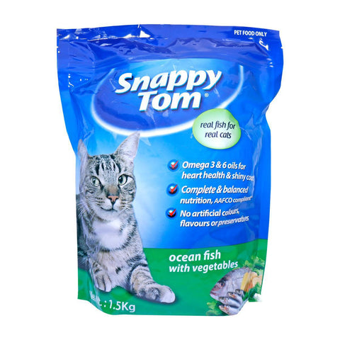 Snappy Tom Oceam Fish With Vegetabies 1.5 Kg