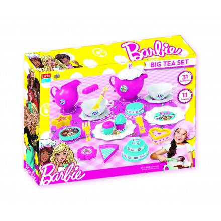 BARBIE BIG TEA SET 31 ITEMS IN BOX AGE3+