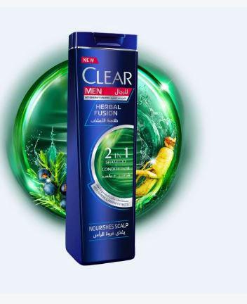CLEAR MEN HERBAL FUSION 2 IN 1 SHAMPOO + CONDITIONER 400ML - MarkeetEx