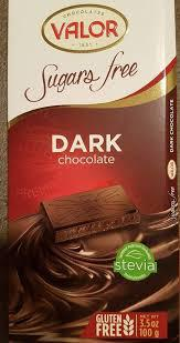 VALOR Sugar Free Dark Chocolate 3.5oz/100gm