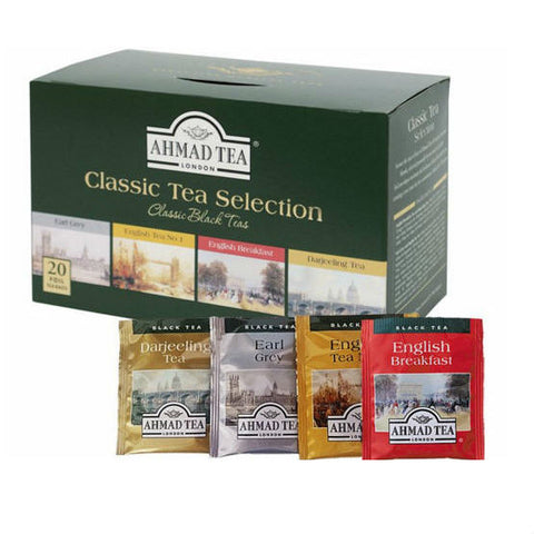 CLASSIC TEA SELECTION OF 4 BLACK TEAS - 20 TEA BAGS PACK