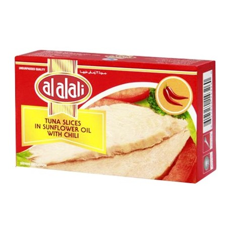 AL ALALI TUNA SLICES IN SUNFLOWER OIL WITH CHILI 100G - MarkeetEx