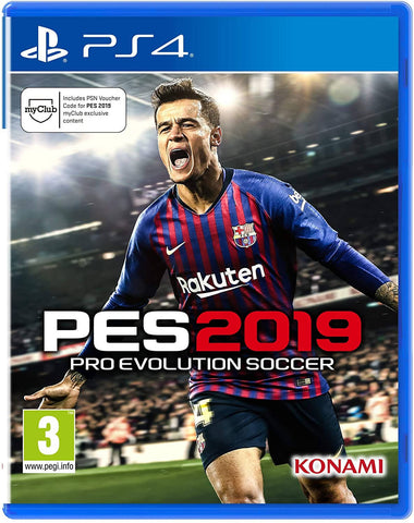 Used PES2019 Pro revolution soccer Game - PS4 Edition 2019