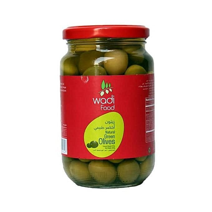 Wadi Foods - Natural Green Whole Olives - 360gm - MarkeetEx
