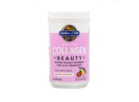 Garden of Life, Grass Fed Collagen Beauty, Strawberry Lemonade (270 g) - MarkeetEx