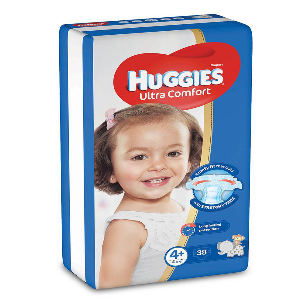 Huggies Ultra Comfort 4+ - 38 Diapers (10-16kg) - MarkeetEx
