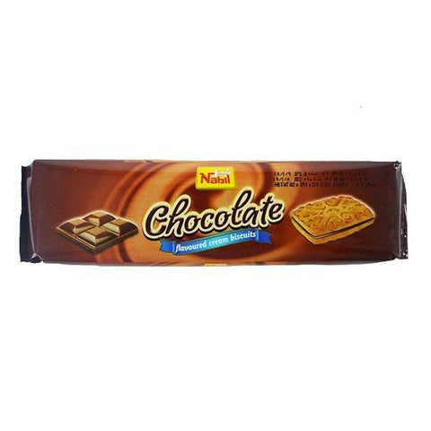 Nabil Chocolate Flavoured Cream Biscuit 82gm